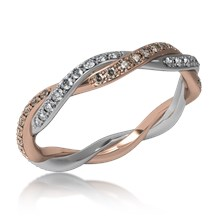 Tight Twist Double Diamond Wedding Band