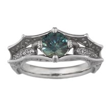 Bat Engagement Ring - top view