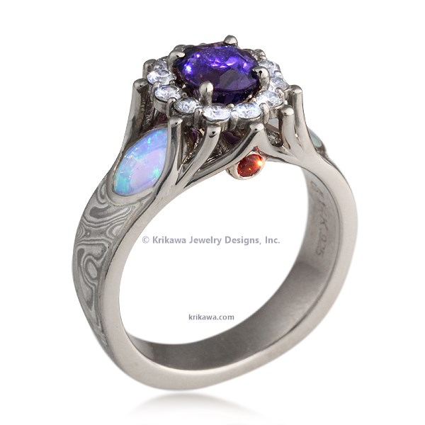 Fountain of Life Engagement Ring