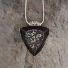 Triangle Cushion Druzy Pendant - top view