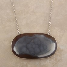 Large Oval Collectors Druzy Necklace - top view