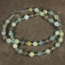 Aquamarine and Quartz Necklace