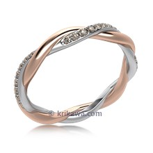 Tight Twisted Diamond Wedding Band