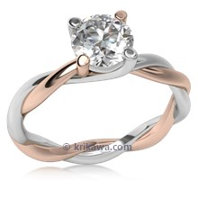 Tight Twisted Engagement Ring