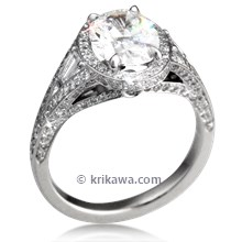 Regal Split Halo Engagement Ring