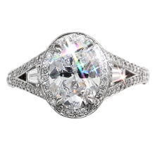 Regal Split Halo Engagement Ring - top view