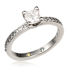 Square Head Solitaire Engagement Ring
