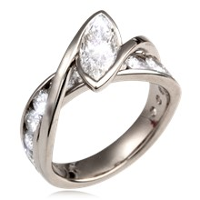 River Twist Engagement Ring