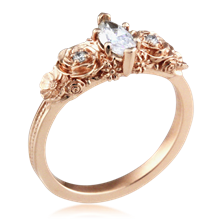 Floral Bouquet Marquise Engagement Ring