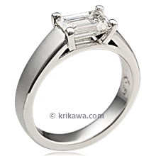 Modern Prong Cathedral Engagement Ring