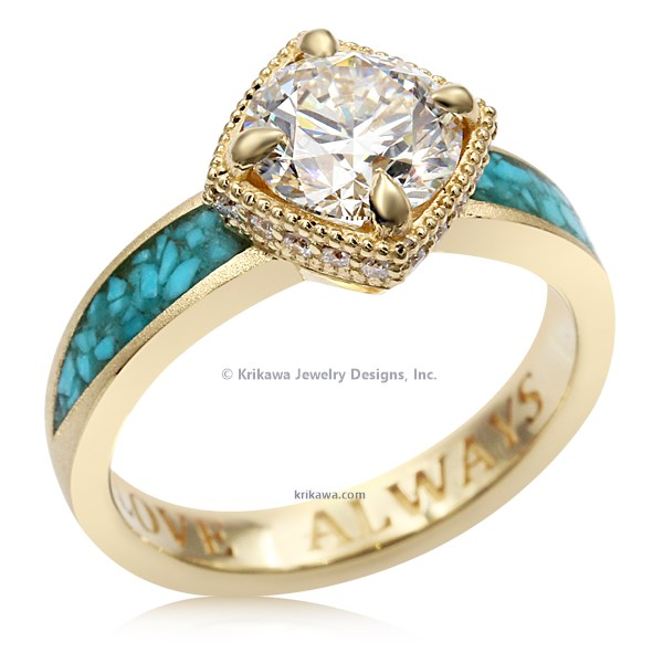 Turquoise Flair Engagement Ring
