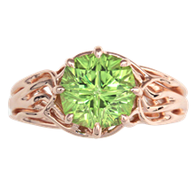 Embracing Tree Branch Engagement Ring - top view