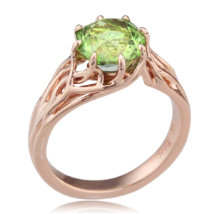 embracing tree branch engagement ring