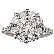 Radiant Petal Engagement Ring - top view