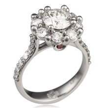 Radiant Petal Engagement Ring