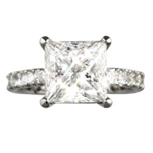 Brilliant Scrolls Pave Engagement Ring - top view