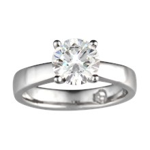 Modern Grace Engagement Ring - top view