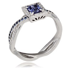 Intricate Elegant Twist Engagement Ring