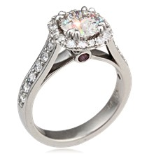 Brilliant Vintage Deco Engagement Ring