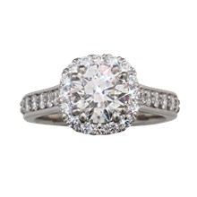 Brilliant Vintage Deco Engagement Ring - top view