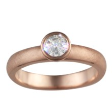 Simple Elegance Solitaire Engagement Ring - top view