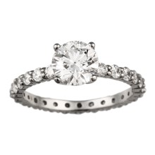 Simple Brilliance Engagement Ring - top view