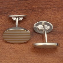 Striped Cufflinks - top view