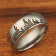 Titanium Tree Band Size 10