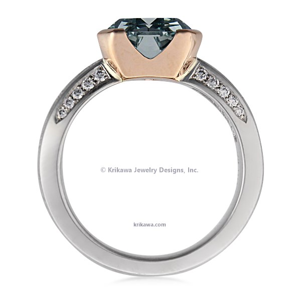 Trillion Silhouette Engagement Ring