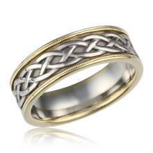 vintage celtic knot band - Celtic Knot Wedding Rings