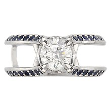 Juicy Scaffold Engagement Ring - top view