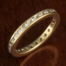 Diamond Channel Eternity Wedding Band