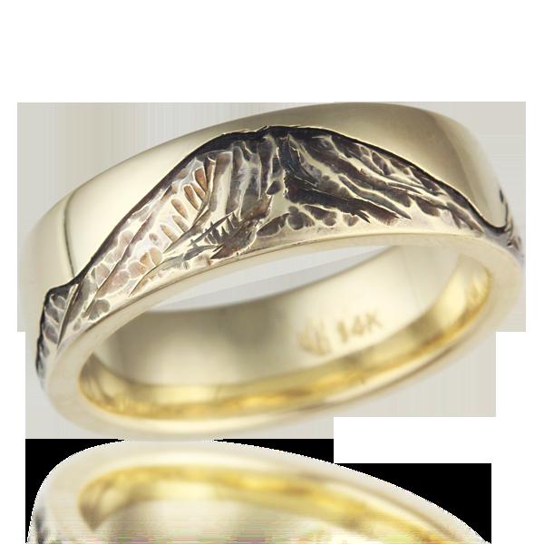 Mountain Wedding Rings Krikawa