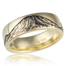Mount Rainier Wedding Band