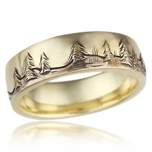 Nature Wedding Band