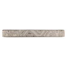 White Mokume Tie Bar - top view