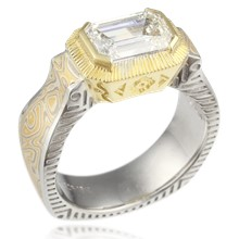 Native Mokume Mens Engagement Ring