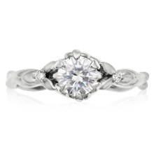 Twisted Leaf Engagement Ring - top view