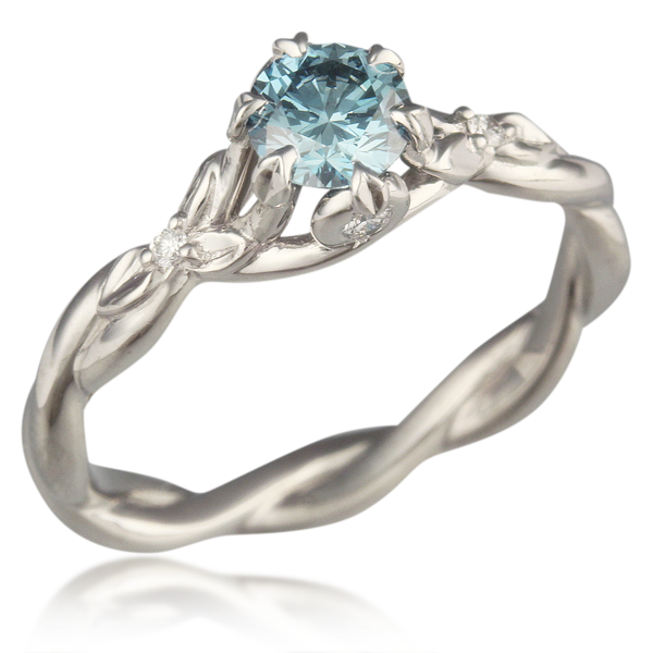 Twisted Leaf Engagement Ring