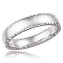 Cylinder Edge Wedding Band