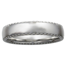 Cylinder Edge Wedding Band - top view