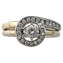 Tiffany Setting Diamond Enhancer - top view