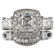 Aascher Pave Contoured Wedding Band - top view