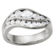 Swan Lake Engagement Ring - top view