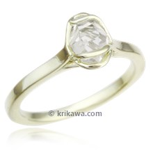 Wrapped Raw Diamond Engagement Ring