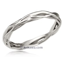 Embracing Branch Wedding Band