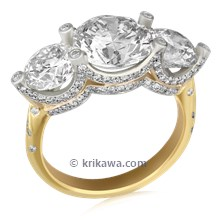 Queens Crown Engagement Ring