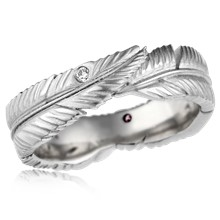 Feather Embrace Wedding Band