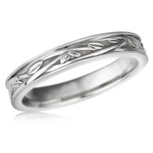 Woven Vine Wedding Band