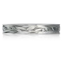 Woven Vine Wedding Band - top view